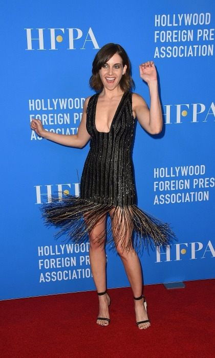 Work it! Alison Brie gave her Thai Nguyen Atelier flapper dress a twirl during the Hollywood Foreign Press Association's Grants Banquet in Beverly Hills on August 2.