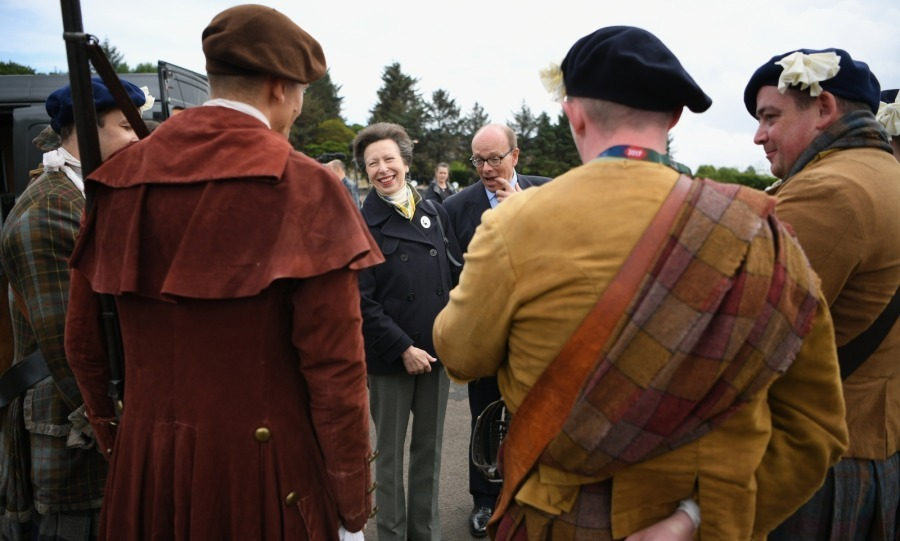 Anne, the Princess Royal attended The 68th Royal Edinburgh Military Tattoo cast rehearsel at Redford Barracks on August 2 in Edinburgh, Scotland. 