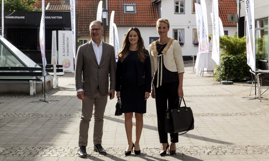 "On August 2, Princess Sofia of Sweden (center) marked the last official engagement off her checklist before she is due to give birth in September. The 32-year-old royal participated in a seminar regarding sustainability issues called ""A Sustainable Tomorrow"" in Båstad, Sweden.