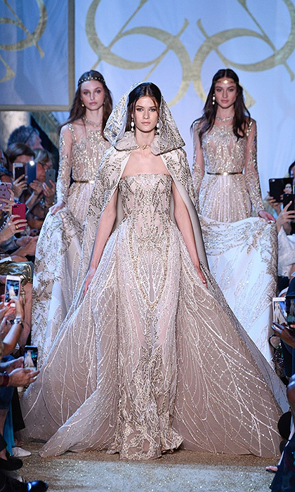 Many of today's brides are seeking that complete fairytale look – haute couture designers like Elie Saab create lavish gowns to ensure the bride is the center of attention for her big day.   