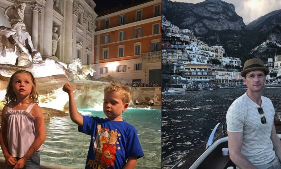 When in Rome! Neil Patrick Harris and his family took in Italy for their summer vacation. The actor shared a picture of his and David Burka's twins, Harper and Gideon making a wish in the historic Trevi Fountain.