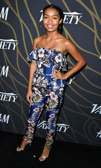 Yara Shahidi gave a masterclass in summer style in floral Philosophy at the Variety Power of Young Hollywood gala at TAO Hollywood on August 8.