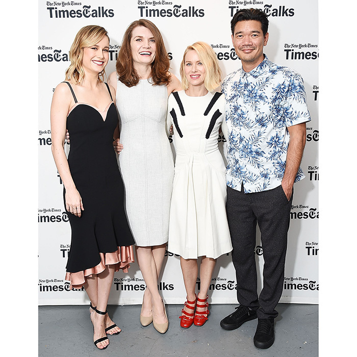Brie Larson, writer Jeannette Walls, Naomi Watts, and director Destin Daniel Cretton were front and center at the TimesTalks Series presentation of <I>The Glass Castle</I> at Florence Gould Hall on August 8 in New York City. 