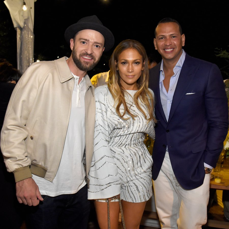 Jennifer was in great company as her boyfriend Alex Rodriguez joined in for a snap with Justin Timberlake at  Apollo in the Hamptons 2017.