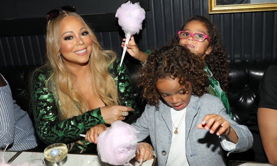 Mariah Carey had a sweet time with her twins Moroccan and Monroe at her concert afterparty at Sugar Factory American Brasserie on Ocean Drive in Miami on August 10.