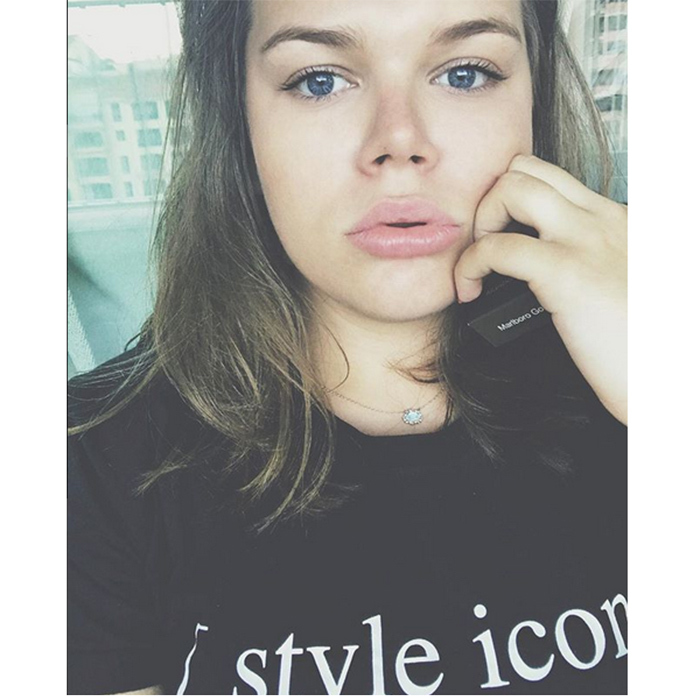 "Princess Grace's 19-year-old granddaughter Camille Gottlieb rocked a 'style icon' t-shirt as she shared this selfie from Monaco, captioning it, ""Blue eyes never lie .""