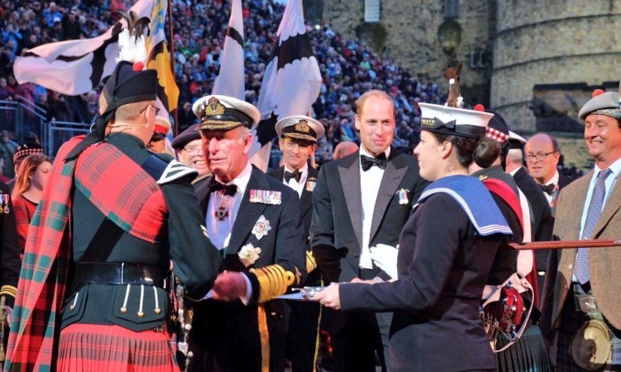 Prince Charles and Prince William carried out a father-son engagement on August 16, attending the Royal Edinburgh Military Tattoo in Scotland for the first time together.