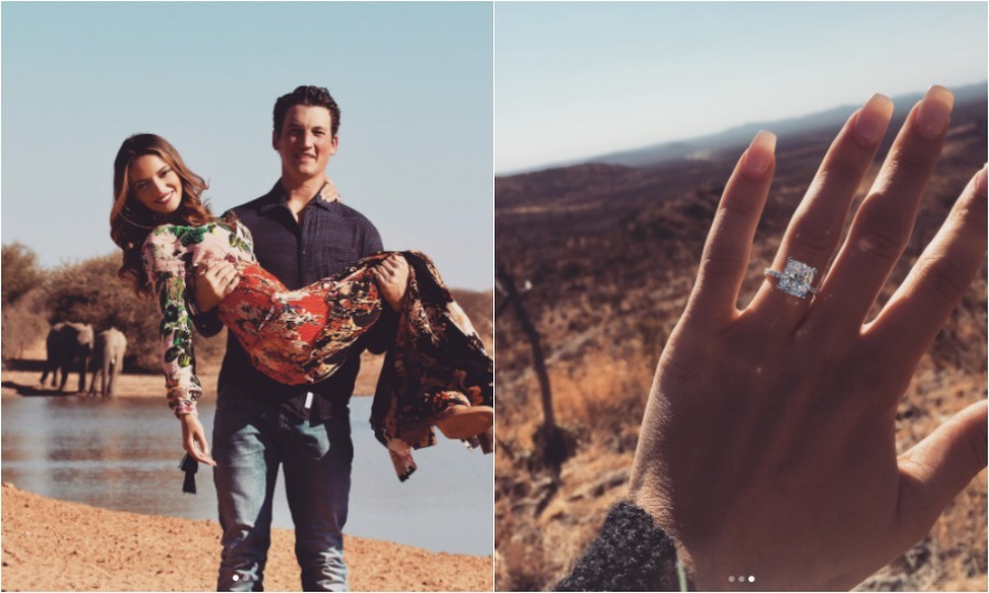 <b>Miles Teller and Keleigh Sperry</b>