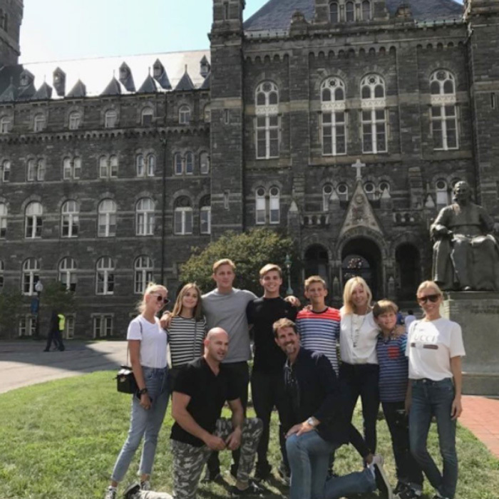 "Crown Prince Pavlos and Crown Princess Marie-Chantal of Greece beamed as they arrived at Georgetown University with their college-bound son, Prince Constantine Alexios.""Hooray Hoyas class of 2021 ,"" the proud mom penned alongside the photo. The family was joined by their niece/cousin, Talita Von Furstenberg, who is the granddaughter of designer Diane Von Furstenberg. Pavlos noted on social media, ""Hoyas class 2021 @alexiosgreece @talitavon and proud families.""