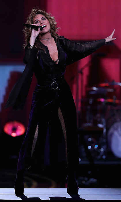 Shania rocked the court at the Billie Jean King National Tennis Center with a dazzling performance.
