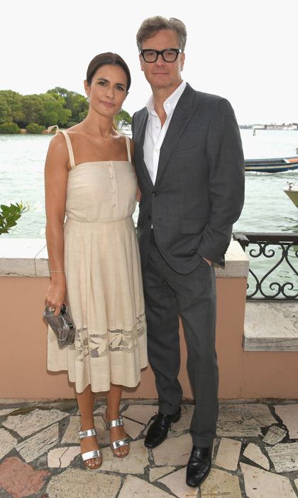 Colin Firth joined his wife Livia Firth at an intimate lunch hosted by her, Carlo Capasa and Caroline Scheufele to announce Chopard as a partner for the Green Carpet Fashion Awards.