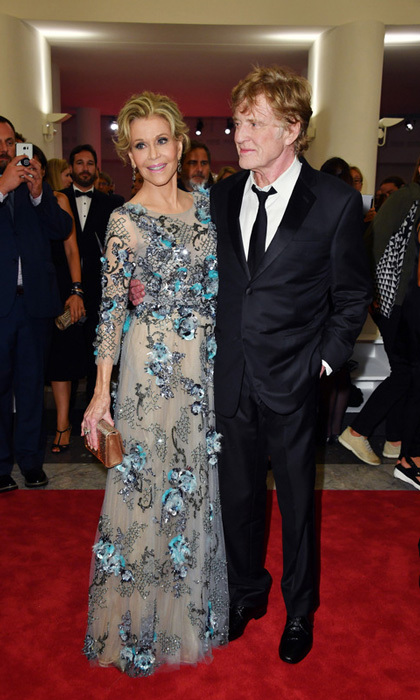 Jane Fonda, in Marchesa, stunned along with Robert Redford at the Golden Lion For Lifetime Achievement Awards ceremony at the Sala Grande on September 1.