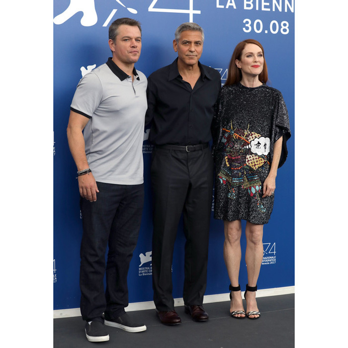 Ahead of their premiere, Matt Damon, George Clooney and Julianne Moore stepped out for a photocall for <i>Suburbicon</i>.