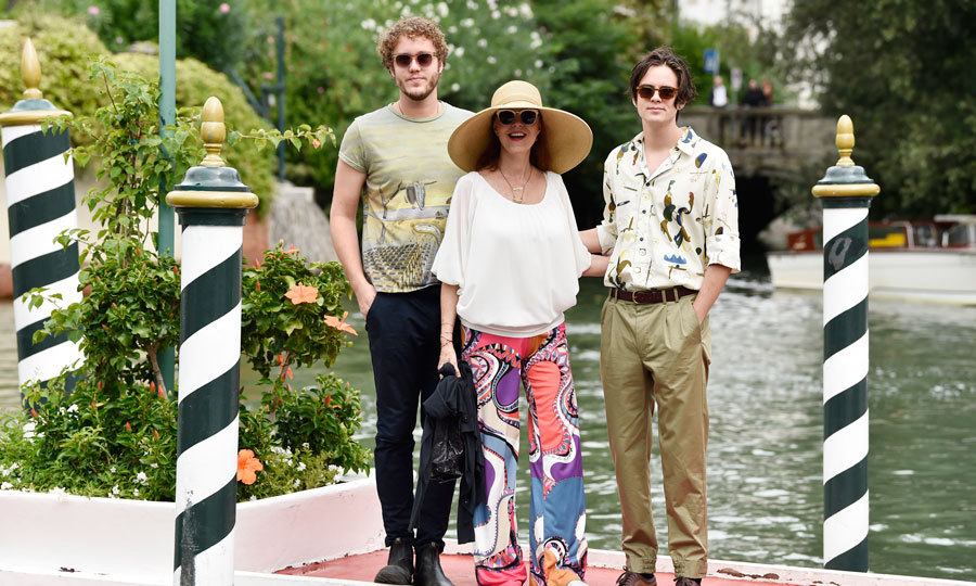 Susan Sarandon, with her sons Jack Henry and Miles Robbins, arrived to the festival.