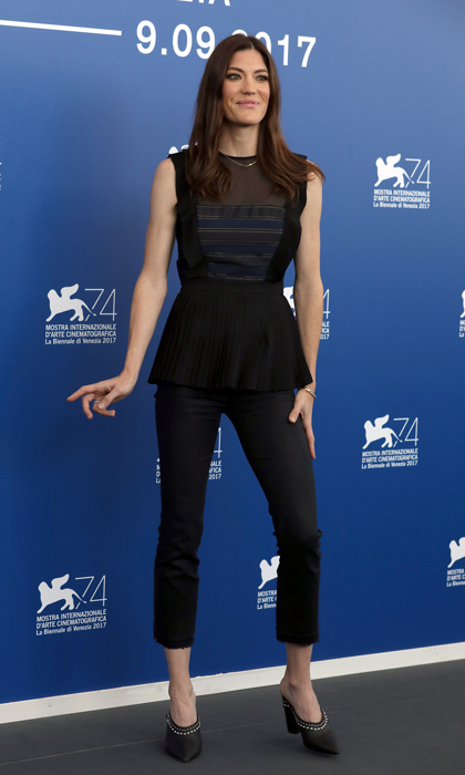 Jennifer Carpenter wore a sleek black ensemble when promoting <i>Brawl in Cell Block 99</i> in Venice.