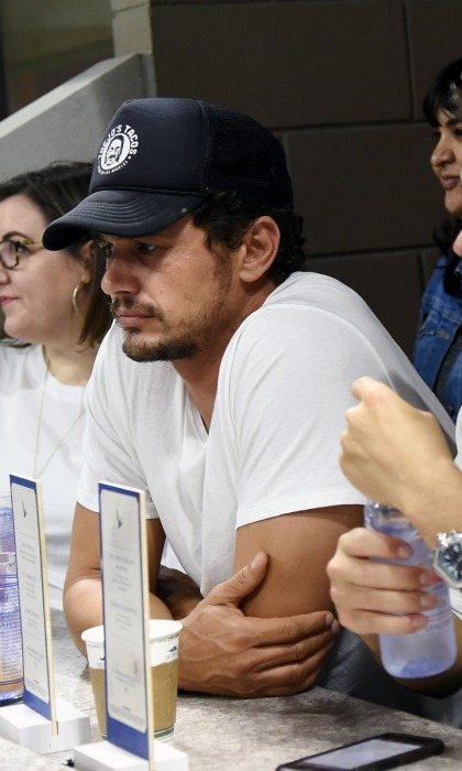 James Franco enjoyed watching the matches from the Grey Goose suite along with friend Kevin Zegers (not pictured). 