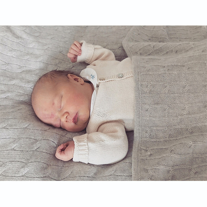Prince Carl Philip shared a photo of his new son Prince Gabriel taken at Villa Solbacken, which was taken when the young royal was five days old. In keeping with the new tradition of royals stepping behind the camera, the 38-year-old snapped the picture of his son sleeping cozily in a gray blanket and sweater.