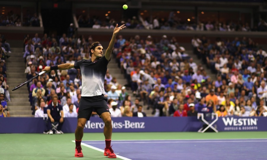 All of the celebrity cheers worked because Roger artfully won the men's singles fourth round match.