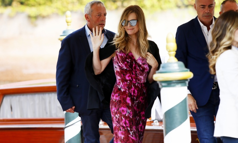 Jennifer's co-star Michelle Pfeiffer had her own glamorous arrival to Venice. The actress accessoritzed with jewels from  Selim Mouzannar's and Gentle Monster's Black Peter sunglasses.