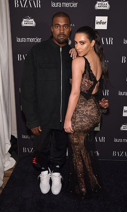 <b>Kim Kardashian and Kanye West</b>