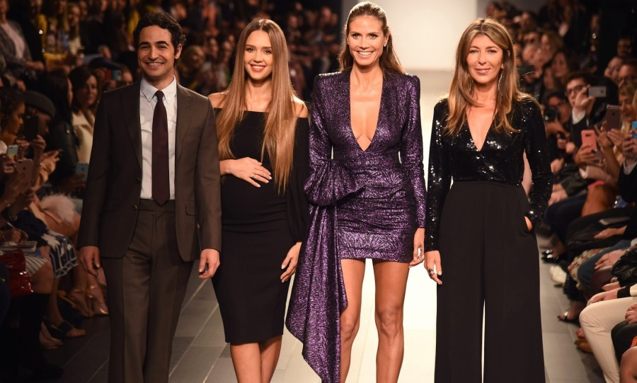 Jessica Alba brought her baby bump to the runway! The pregnant 36-year-old talent joined fellow judges Zac Posen, Heidi Klum and Nina Garcia at the <i>Project Runway</i> fashion show at Gallery 1, Skylight Clarkson Sq. on September 8. 