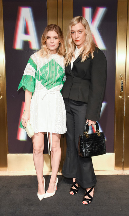 Kate Mara and Chloe Sevigny were able to browse the newly renovated Saks Fifth Avenue's third floor during their busy fashion week schedules. 