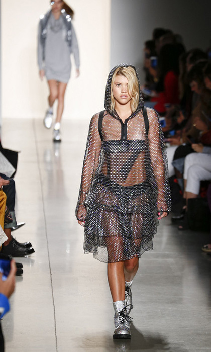 Sofia Richie also walked during the Jeremy Scott show.