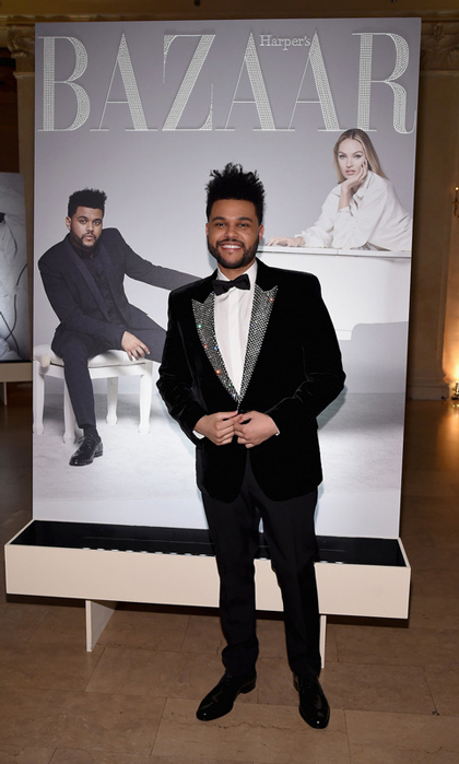 The Weeknd performed his hit songs at the Bazaar Icons party for the likes of Adriana Lima, Kim Kardashian and Nicki Minaj.