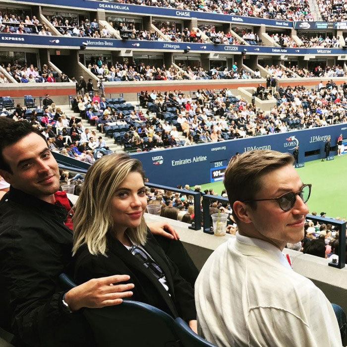 "Ashley Benson was also spotted in the crowd. ""Such a pleasure to watch two phenomenal female athletes compete at the #UsOpen,"" she wrote. ""So inspiring to see how supportive they are of each other."" The star and her friends sat in the Emirates suite to watch Madison Keys compete against Sloane Stephens.