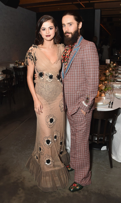 Selena Gomez, in Rodarte, and Jared Leto's Saturday night was extra glam at the Business of Fashion's #BoF500 Gala at the Public Hotel in NYC.