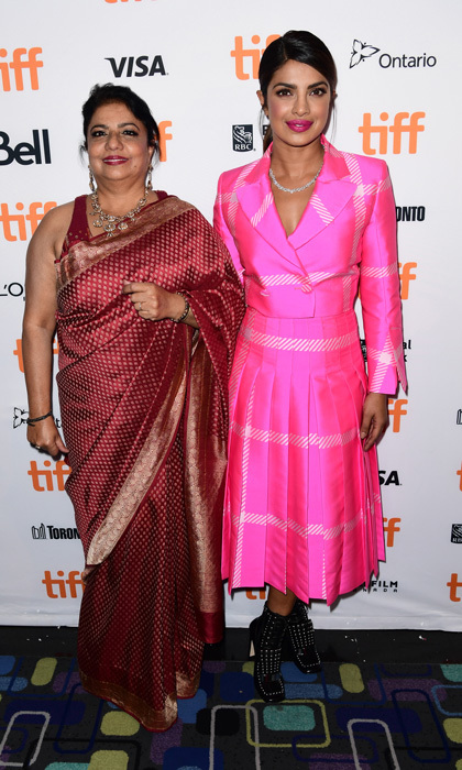 A Fendi-clad Priyanka Chopra and her mom Madhu Chopra made it a girls' night in Toronto while attending the <i>Pahuna: The Little Visitors</i> premiere.