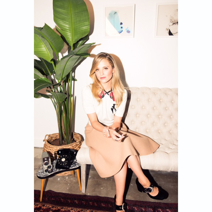 Dianna Agron was sitting pretty in Coveteur's first Portrait Studio at NKPR IT House x Scott Brothers.