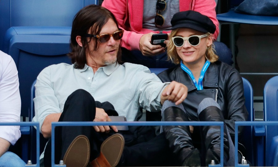 Diane Kruger and Norman Reedus took in the final match of the US Open between Rafael Nadal and Kevin Anderson from the Grey Goose suite.