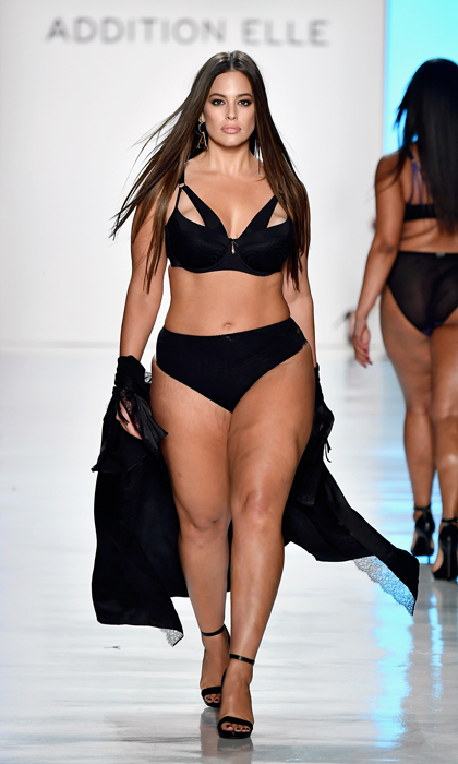 Ashley Graham stripped down during the Addition Elle show on September 11.