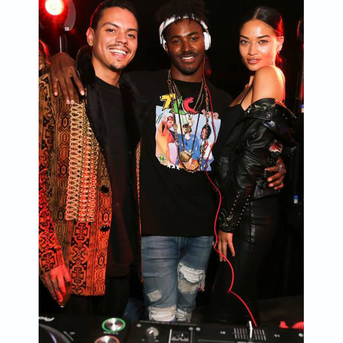 Evan Ross, Shanina Shaik and her fiancé DJ Ruckus, who had guests dancing nonstop, had a Sunday Funday at the Moët & Chandon x Public School launch party.