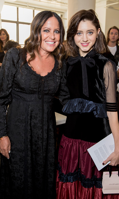 Designer Jill with <I>Stranger Things</I> star Natalia Dyer.