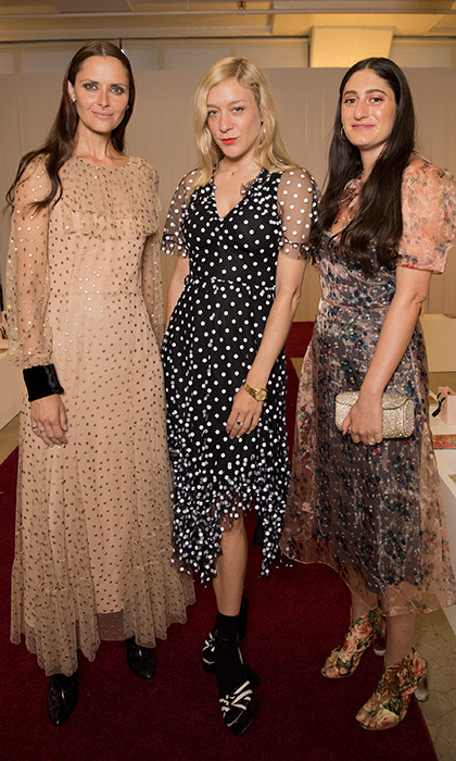 Tasha Tilberg, Chloe Sevigny and Arden Wohl worked fabulous looks backstage at Jill Stuart.