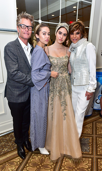 Fashionable family The Hamlins! Harry Hamlin, daughter Delilah Belle and wife Lisa Rinna, right, were on hand at Dennis Basso to support daughter Amelia's debut on the NYFW catwalk.