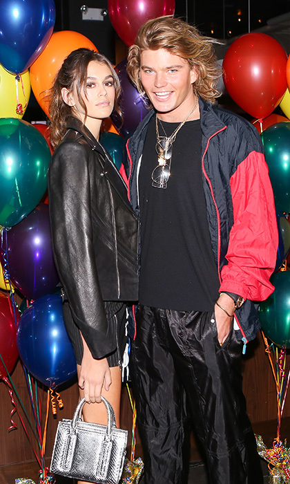 Kaia Gerber and Jordan Barrett were looking cool at the Gucci Mane performance celebrating PAPER Magazine's Beautiful People issue at Dave & Buster's.