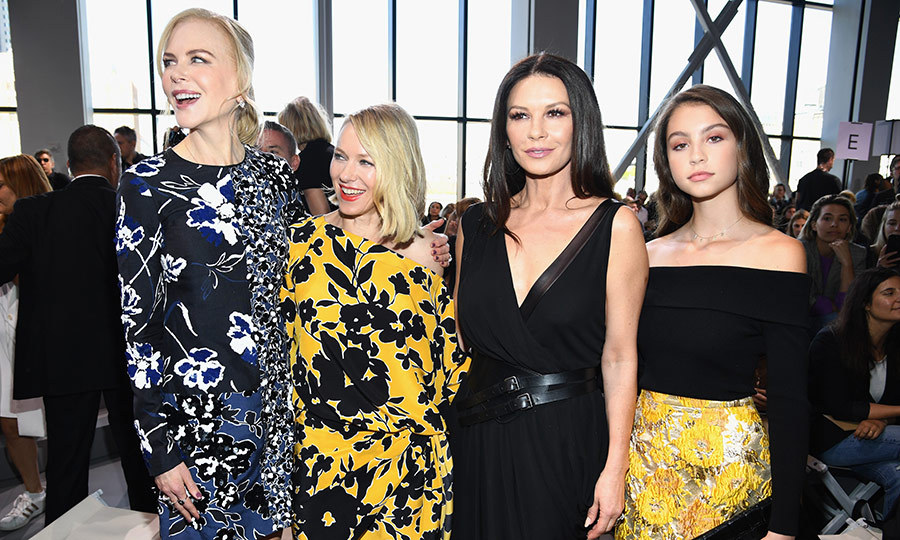 The actresses also mingled with Catherine Zeta-Jones and her daughter Carys.