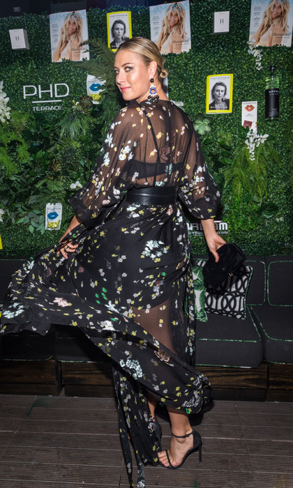 Maria Sharapova gave a twirl on the carpet at the Hamptons agazine party celebrating her cover and book new book, <i>Unstoppable: My Life So Far</i> at the Dream Midtown's PHD Terrace in NYC. 