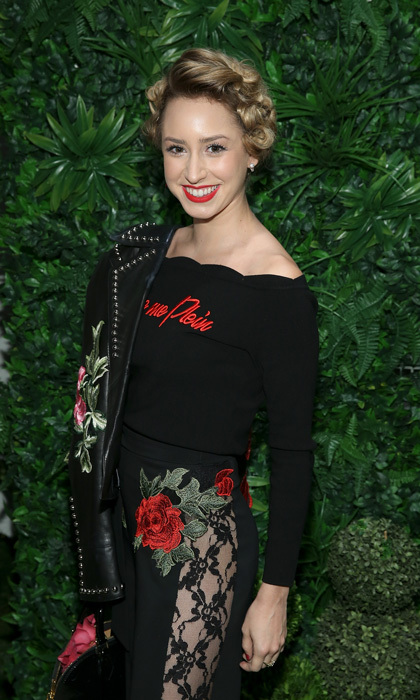 Prince Albert's daughter Jazmin Grimaldi made her way to Skylight Clarkson for the Alice & Olivia presentation.