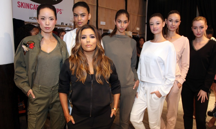 Eva Longoria was the leader of her model squad during the launch of her collection at Kia Style360. The actress had her mom on hand for support on her big day.