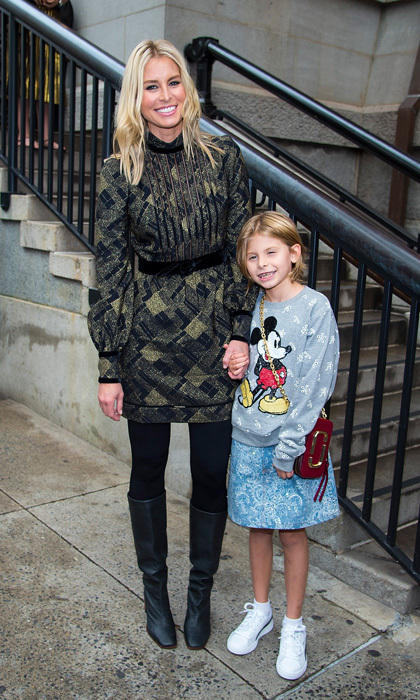 Niki Taylor brought her daughter Ciel to the Marc Jacobs show.