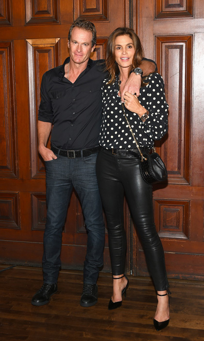 Cindy Crawford and Rande Gerber were spotted at the Marc Jacobs show where their daughter Kaia continued to turn heads.