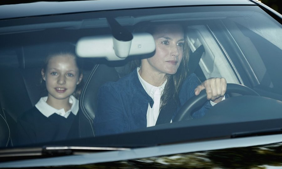 It was back to class for Princess Leonor of Spain, who was driven to the first day of school by mom Queen Letizia in Madrid on September 11. 