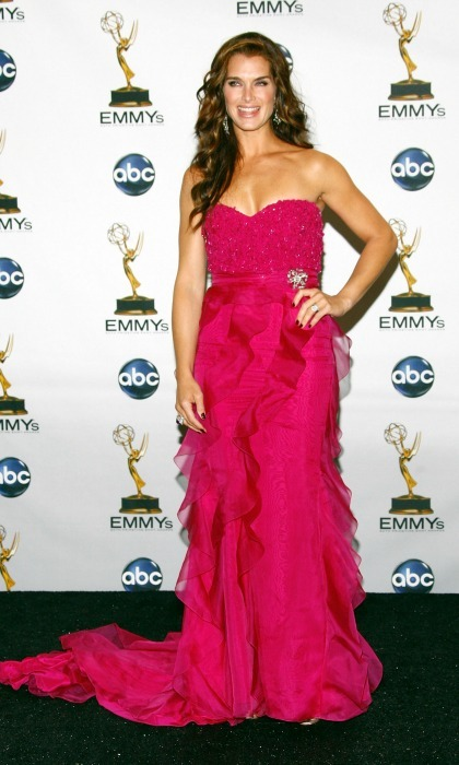 One of their standout moments is Brooke Shields in this fuscia number to a past Emmys.
