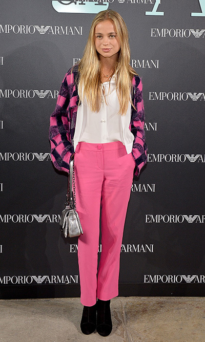 British royal Lady Amelia Windsor was pretty in pink at Emporio Armani. 