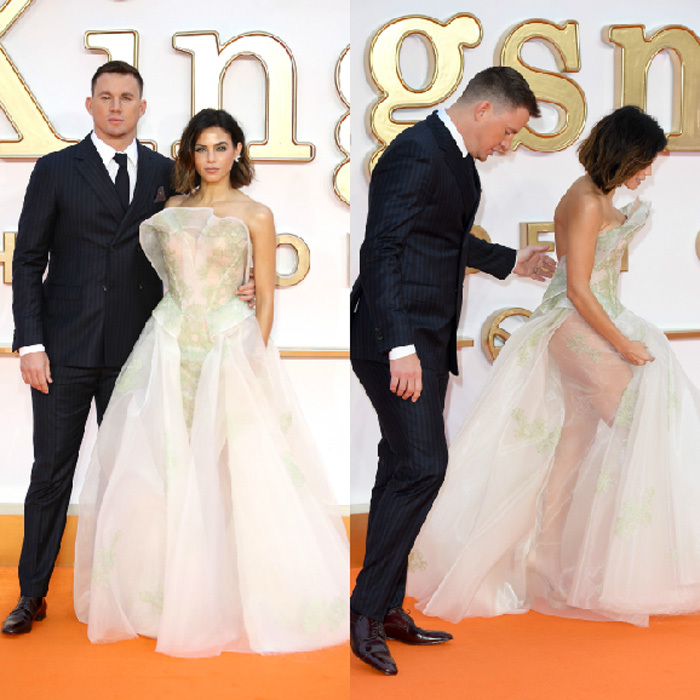 Channing Tatum and his wife Jenna Dewan were a stand out pair at the premiere of the <i>Kingsman: The Golden Circle</i> in London on September 18. Channing, who stars in the film, looked handsome in a tux while his wife stunned in Zac Posen. 