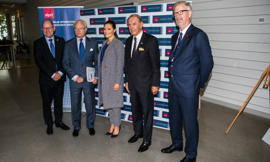 King Carl XVI Gustaf of Sweden was joined by his oldest daughter Crown Princess Victoria and Jan Eliasson as they attended the 2017 Stockholm Security Conference at Artipelag on September 14.